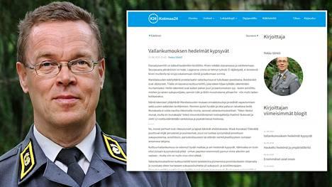Kenttäpiispa Pekka Särkiö pyytää anteeksi blogimerkintänsä sävyä.