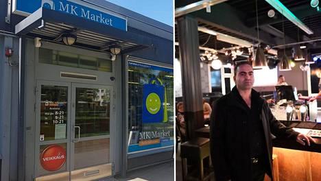 Mustafa Kosar toimii MK Market -ruokakaupan kauppiaana ja työskenteli illalla samassa kiinteistössä sijaitsevassa ravintola Kayatepessä.