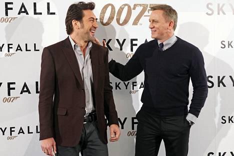 Javier Bardem ja Daniel Craig tähdittivät vuonna 2012 ensi-iltansa saanutta Skyfall-elokuvaa.