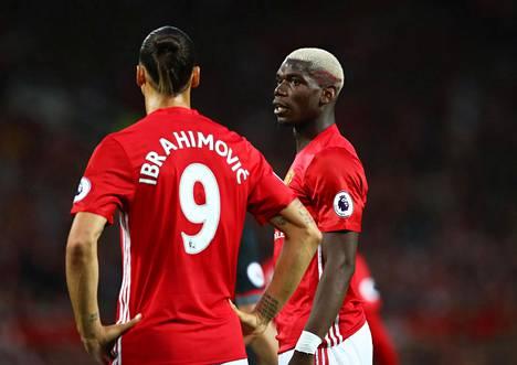 Zlatan Ibrahimovic ja Paul Pogba ovat Jose Mourinhon hankintoja.