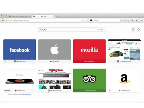 Firefoxin mainossuositussivu