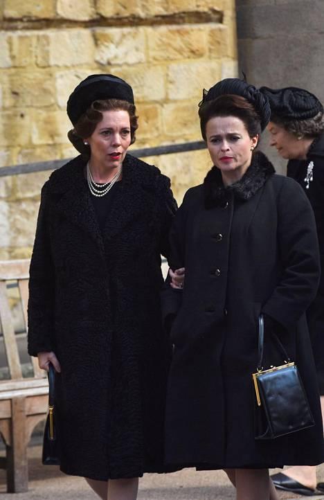 Kuningatar Elisabetin ja prinsessa Margaretin rooleissa nähdään The Crownin uudella tuotantokaudella Olivia Colman ja Helena Bonham Carter.