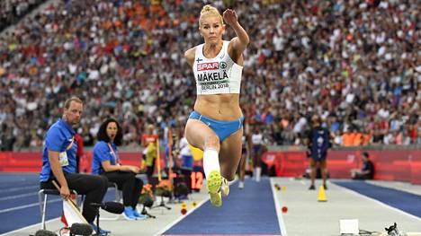 Kristiina Mäkelä sijoittui yhdeksänneksi kolmiloikassa.