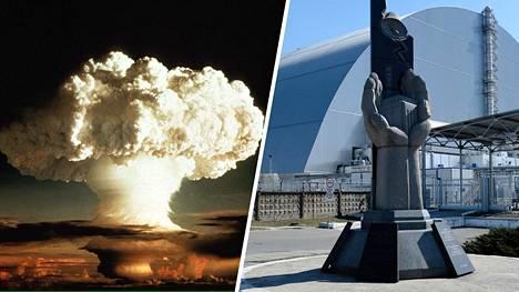 Maailman ensimmäinen vetypommi räjäytettiin Enetawkin atomilla 1952. Tsernobylin nelosreaktori suojakuvun alla 2019.