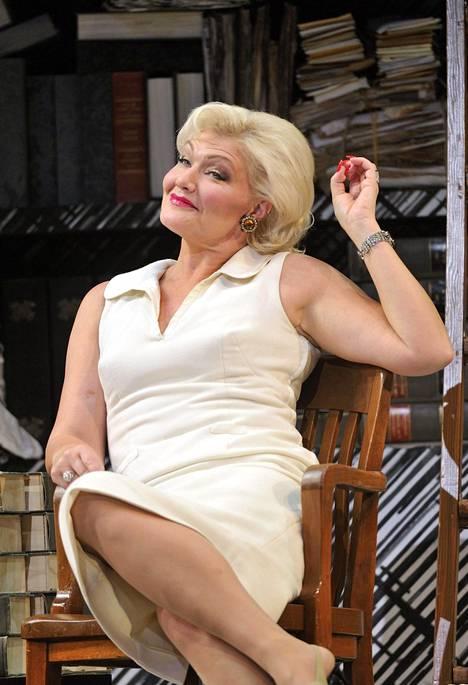 Karita Mattila Emilia Martyn roolissa Leos Janacekin Tapaus Makropulos -oopperan harjoituksissa Kansallisoopperassa Helsingissä elokuussa 2012.