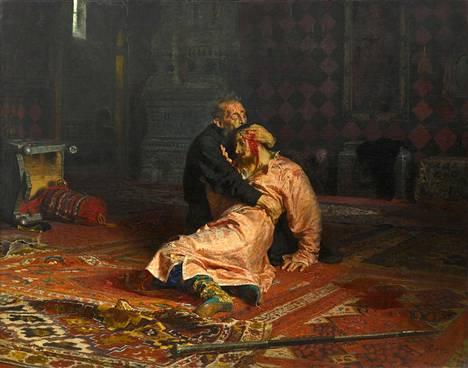 Iivana Julma ja hänen poikansa Ivan -taulu joutui vandaalin hyökkäyksen kohteeksi toukokuussa 2018. Taulu esittää hetkeä, jolloin tsaari Iivana Julma tajuaa lyöneensä Ivan-poikansa kuolleeksi.