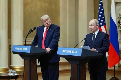 Yhdysvaltain presidentti Donald Trump ja Venäjän presidentti Vladimir Putin tapasivat Helsingissä kesällä 2018.