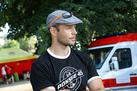 Tero Pitkämäki kuvattuna Kalevan kisoissa perjantaina.
