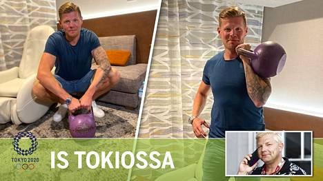 Ylen tv-kasvo Antti-Jussi Sipilä haluaa pitää kuntoaan yllä myös työmatkalla Tokiossa.
