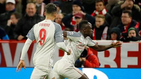 Sadio Mane (oik) oli Liverpoolin sankari.