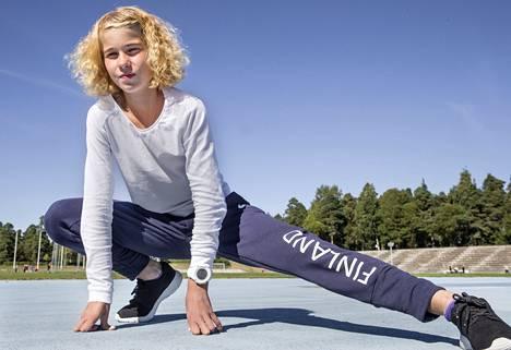 Alisa Vainion normaali harjoitusviikko on noin 140 kilometriä.