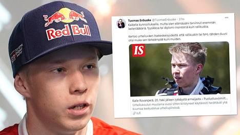 Kalle Rovanperä, 20, jahtaa menestystä WRC:ssä.