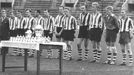 KTP:n Suomen cupin voittanut joukkue 1961.