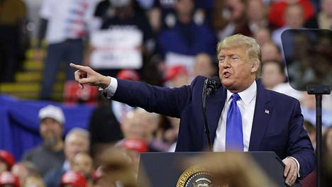 Presidentti Trump puhui kampanjatilaisuudessa Milwaukeessa tiistai-iltana paikallista aikaa.