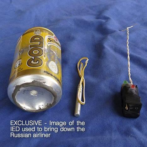 Isisin lehdessään julkaiseman kuvan kerrotaan esittävän samanlaisen pommin mallia, jolla venäläinen matkustajakone räjäytettiin.