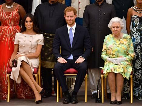 Harry ja Meghan tekivät töitä kuningattarelle vielä vuonna 2018.