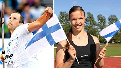 Tero Pitkämäen elämänkumppani Niina Kelo kannustaa miestään koti-Suomessa parin kahden lapsen kanssa.