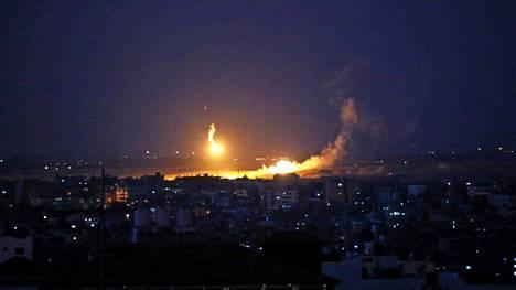 Israel on tehnyt jo useiden päivien ajan ilmaiskuja Gazaan