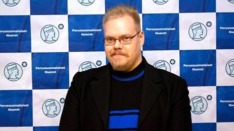 Perussuomalaisten nuorten 2. varapuheenjohtaja Toni Jalonen Perussuomalaisten Nuorten syyskokous Riihimäellä 9-11. marraskuuta 2019.