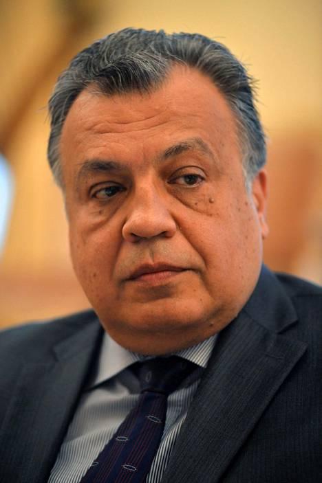 Andrei Karlov (1954-2016) nimitettiin Venäjän Turkin-suurlähettilääksi vuonna 2013.