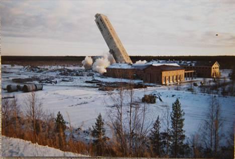 Kaivostorni räjäytettiin vuonna 1995.