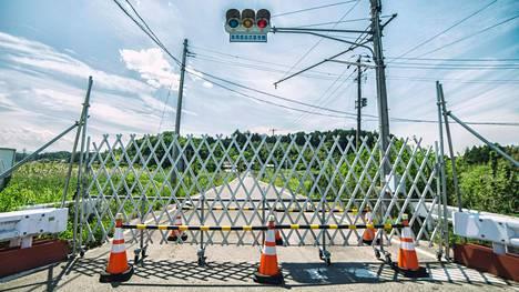 Fukushiman prefektuurissa tiesulut kertovat evakuoiduista alueista.