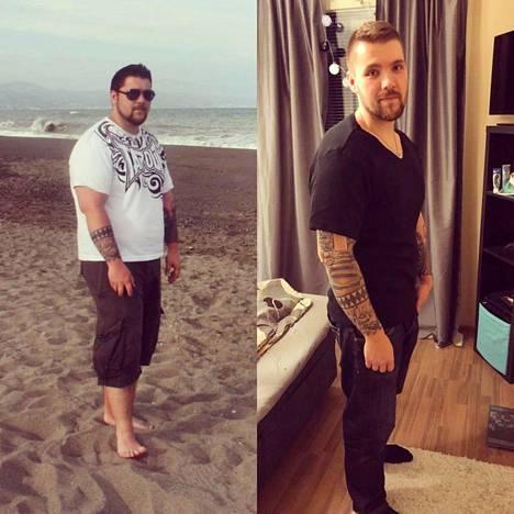 Tietäisitkö muista kuin tatuoinneista, että kuvissa on sama mies?