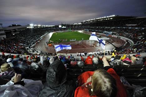 Helsingin EM-kisat eivät olleet sään suosiossa.