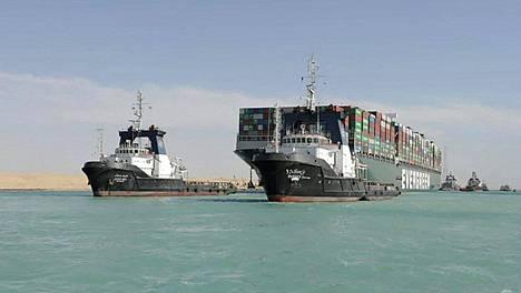 Suezin kanavan tukos kesti viikon.