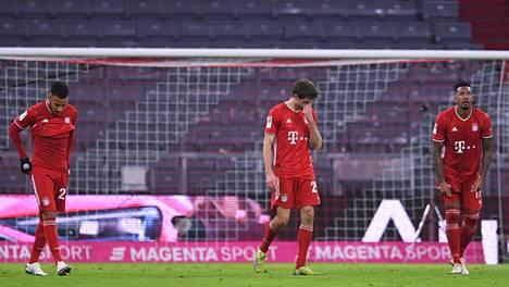 Bayern Münchenin pelaajilla on ollut viime aikoina mietittävää. Kuva Bundesliigan tappio-ottelusta Mainzia vastaan viime viikolta.