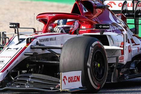 Kimi Räikkönen ylsi hienosti pisteille Italiassa.