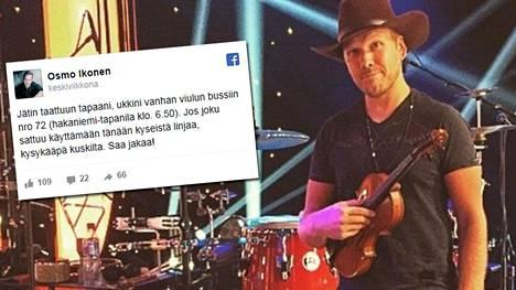 Muusikko Osmo Ikonen metsästi somessa mittaamattoman arvokasta perintöviuluaan.