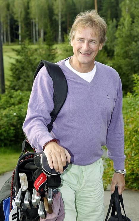 Riki Sorsa viihtyi golfkentällä.