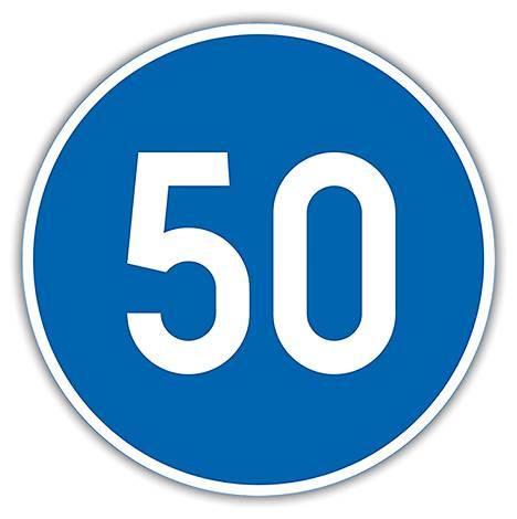 D10 Vähimmäisnopeus – Merkissä oleva luku osoittaa ajoneuvon nopeuden kilometreinä tunnissa, jota ei saa alittaa, ellei liikennetilanne sitä edellytä.