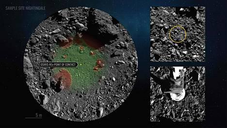 Osiris-Rex-luotain keräsi noin 400 gramman verran näytemateriaalia Bennu-asteroidin pinnalta. Vähimmäisvaatimuksena oli 60 gramman näyte.