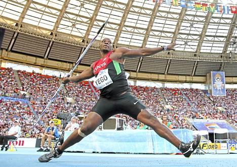 Julius Yego heitti Moskovan MM-kisoissa Kenian ennätyksen, mutta jäi niukasti mitaleilta neljänneksi.