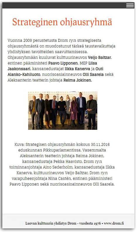 Kuvakaappaus drom.fi-sivustolta.