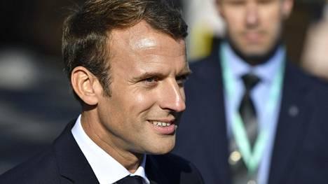 Ranskan presidentti Emmanuel Macron Tallinnan kokouksessa 29. syyskuuta 2017.