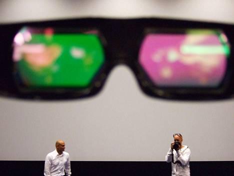 3D-laseilla näkee elokuvan kolmiulotteisena.