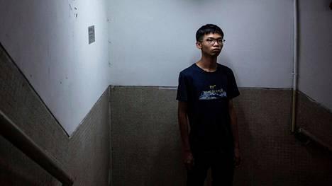 Aktivisti Tony Chung kuvattuna elokuussa.