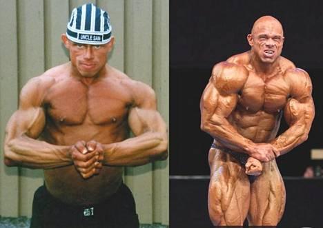 Vasemmalla Bull Mentula vuonna 1998, oikealla vuonna 2012.