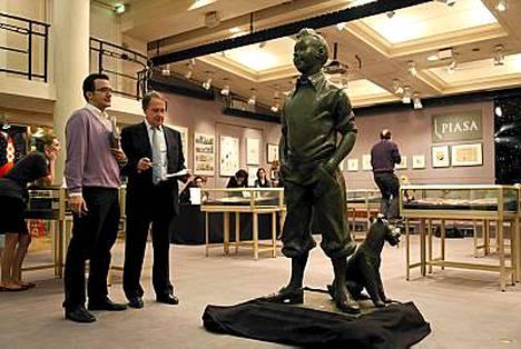 Näitä luonnollisen kokoisia Tintti-patsaita on maailmassa vain viisi kappaletta.
