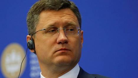 Venäjän energiaministeri Alexander Novak kuvattiin Pietarissa 25. toukokuuta 2018.