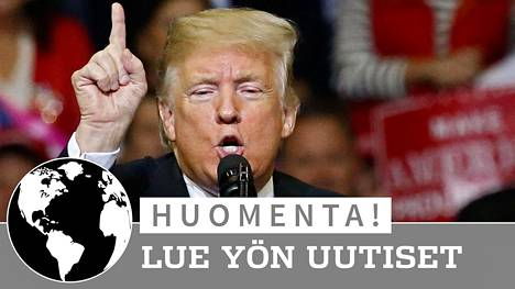 Trump puhui tiistain vastaisena yönä Suomen aikaa kannattajilleen Houstonissa.