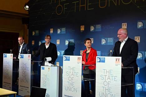 Komission puheenjohtajaehdokkaat Manfred Weber, Guy Verhofstadt, Ska Keller ja Frans Timmermans väittelivät Firenzessä toissa viikolla.