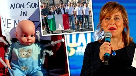 Italian terveysministeri Giulia Grillo antoi potkut tieteelliselle asiantuntijaneuvostolle.