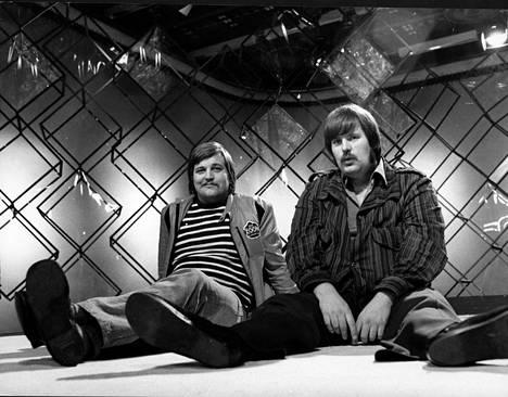 """1972 Kai Hyttinen ja Matti """"Fredi"""" Siitonen. He ovat molemmat Hämeenlinnasta kotoisin ja kuuluivat nuorina samaan kaveriporukkaan Vexi Salmen kanssa."""
