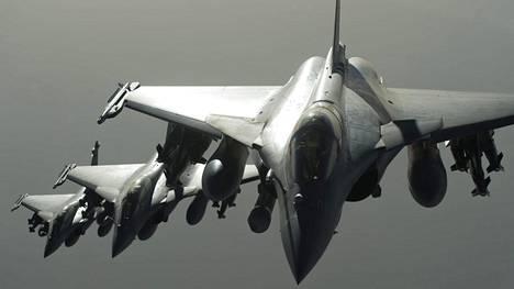 Ranskan Rafale-hävittäjät aloittivat iskut Syyriassa syyskuun lopussa.