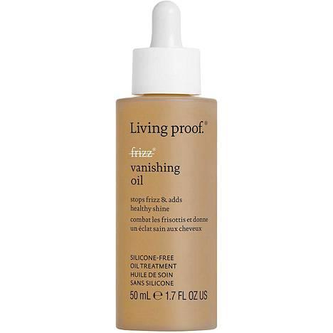 Living Proof No Frizz Vanishing Oil -öljyn aineosat imitoivat hiuksen luonnollisia öljyjä, 28 € / 100ml.
