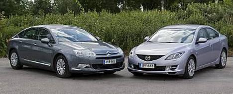 Mazda oli Citroenia etevämpi isojen perheautojen vertailussa.